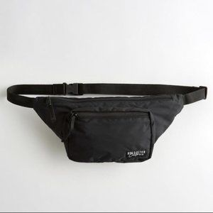 NWT Hollister Belt Bag Black Fanny pack zippered